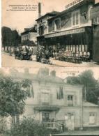 FRANCONVILLE  ( 95 ) - 2 Cpa : La Mairie Et Le Café Tabac De La Gare - Franconville