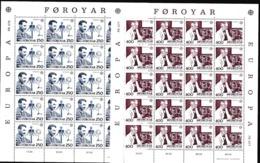 1983 FAROER Faroe EUROPA CEPT EUROPE 20 Serie Di 2v. MNH** In 2 Minifogli 2 Minisheets - Europa-CEPT