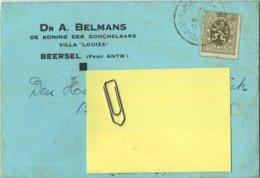 Beerzel ( Beersel ) Antwerpen : Document Dr. A Belmans : De Koning Der Goochelaars : Villa ' LOUIZA )  See All Scans - Putte