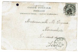 53 Sans Bdl  Sur Carte Vue (Bruges) Obl Barry Maulde (+8) Vers Leuze - 1893-1907 Coat Of Arms