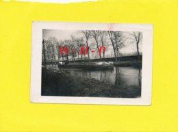 Photo Ancienne - DOMBASLE Sur Meurthe ?  - Péniche  SOLVAY N° 117 - Bateaux