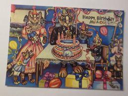 Katzen, Happy Birthday Miaou,   1980, Sylvie Harachouse  ♥ (45) - Katzen