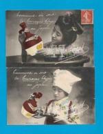 33 Bordeaux 1912 RARE Lot 2 Cpa Publicité Ets Bardinet Curaçao Chypre Au Japon Tbe Recto-Verso Alcool - Bordeaux