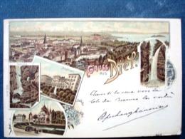 Suisse ,gruss Aus Biel Ou Bienne De 1898.....timbres Et Cachets Au Verso - Schweiz