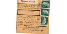 Colis Postal  / De Kopreinitz  /  Pour Waldheim - Briefe U. Dokumente