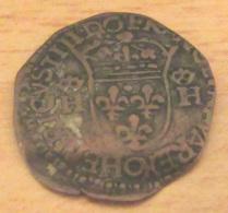 France - Faux D'époque - Douzain Henri IV Aux 2 H 1598 O (Riom) - Date Fantaisiste - TTB+ - 1589-1610 Henri IV Le Vert-Galant