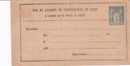 Sage 5 C Avis De Réception De Colis Postal D 20 Neuf - Ganzsachen