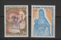 Saint Pierre Et Miquelon 1975 Artisanat 443-444 2 Val ** MNH - St.Pedro Y Miquelon