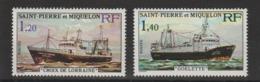 Saint Pierre Et Miquelon 1976 Bateaux 453-454 2 Val ** MNH - St.Pierre & Miquelon
