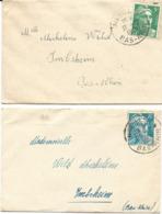 5 LETTRES 1949 / 57 AVEC CACHETS D'INGWILLER - BAS RHIN - - Elsass-Lothringen