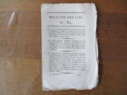 DECRET IMPERIAL 1806 N° 1397 A 1420 NAPOLEON BULLETIN DES LOIS N° 82 - Decrees & Laws