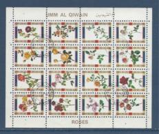 Umm Al Qiwain - Bloc Feuille - Roses - Oblitéré - 1972 - Umm Al-Qaiwain