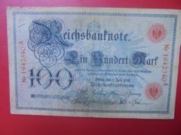 Reichsbanknote 100 MARK 1898 (DATE +RARE) CIRCULER - 100 Mark