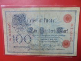 Reichsbanknote 100 MARK 1903 (DATE +RARE) CIRCULER - 100 Mark