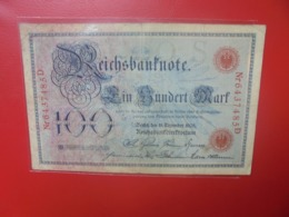 Reichsbanknote 100 MARK 1905 (DATE +RARE) CIRCULER - 100 Mark