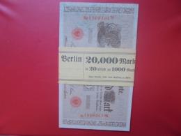 Reichsbanknote 1000 MARK 1910 LIASSE AVEC 20 BILLETS NEUFS (F.1) - [ 2] 1871-1918 : German Empire