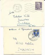 8 LETTRES 1951 / 56 AVEC CACHETS DE PFAFFENHOFFEN - BAS RHIN - - Elsass-Lothringen