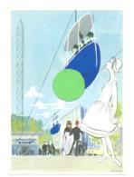 """BRUXELLES Exposition 1958 - Expo 58 - Télésiège , Système ROLL ( Suisse) """"BELGAROLL SA """" Illustrateur Browne  (b260) - Exhibitions"""