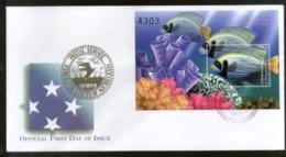 Micronesia 2000 Coral Angel Fishes Marine Life Animals Sc 402 M/s On FDC # 16860 - Marine Life