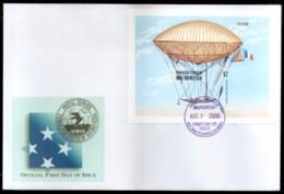 Micronesia 2000 Dupuy De Lome Zeppelin Air Ship Aviation Sc 382 M/s On FDC # 9493 - Zeppelins