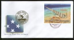 Micronesia 2001 Sea Shell Marine Life Sc 459 M/s On FDC # 16847 - Marine Life