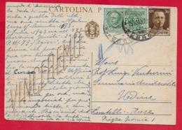 CARTOLINA POSTALE VG ITALIA - 1942 IMPERIALE VINCEREMO 30 Cent - U. CP 98 - Espresso - 10 X 15 - 1943 - 1900-44 Victor Emmanuel III
