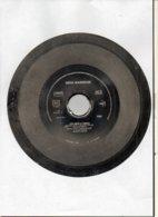 """( Rare ) Matrice De Disque En Acier 45 Tours Face B ( à L'envers ) / """" LOURDE LA PEINE 1989 """" Norman Kiwi - Formati Speciali"""