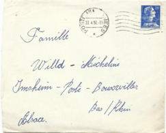 LETTRE 1958 AVEC OBLITERATION POSTE AUX ARMEES SUR TIMBRE MARIANNE DE MULLER - Postmark Collection (Covers)