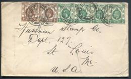 HONG KONG -  N° 99 (2) + 100 (3) / LETTRE DE HONG KONG LE 6/5/1921 POUR LES USA - TB - Covers & Documents
