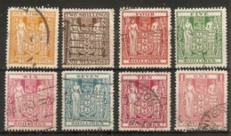 NEW ZEALAND 1940 - 1958 POSTAL FISCAL VALUES TO £1 BETWEEN SG F191 AND SG F203W FINE USED Cat £27+ - Postal Fiscal Stamps