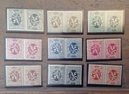 PDG. Cl1. P12.3.  Fraîcheur Postale. Sans Charnière. COB. TB 3 >>> 10. 9 Pièces - Tete Beche