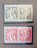 PDG. Cl1. P12.4.  Fraîcheur Postale. Sans Charnière. COB. TB 13  >>> 14 - Tete Beche