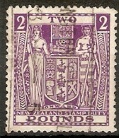 NEW ZEALAND 1952 £2 SG F206W INVERTED WATERMARK FINE USED Cat £22 - Postal Fiscal Stamps