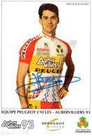 7149 CP Cyclisme Hervé Boussard Dédicacée - Cyclisme