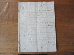 17 MAI 1832 DONATION ET PARTAGE Mr AIME-PIERRE BEVIERRE Et MARIE-THERESE GOSSUIN EPOUSE A AVESNES FERME DE St HILAIRE... - Manuscripts