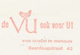 Meter Card Netherlands 1971 Bird - Owl - Birds