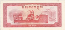 CAMBODGE   1 Riel   1975   -- UNC -- - Cambogia