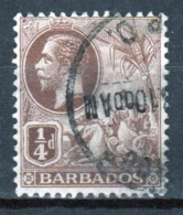 Barbados 1912 George V Single One Farthing Stamp From The Definitive Set. - Barbados (...-1966)