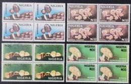 NIGERIA 1996 - MUSHROOMS MUSHROOM FLORA - RARE MNH - Nigeria (1961-...)