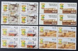 NIGERIA 1998 - RAILWAYS COMPANY ANNIVERSARY LOCOMOTIVES TRAINS - RARE MNH - Nigeria (1961-...)