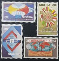 NIGERIA 1990 - 30 TH ANNIVERSARY OPEC OPEP PETROLEUM OIL FLAGS ALGERIA RARE MNH - Nigeria (1961-...)