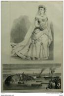 La Duchesse De Connaught En Toilette De Mariée - Page Original  1879 - Historische Documenten