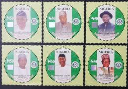NIGERIA 2014 - CENTENARY ANNIVERSARY 1914 2014 ICONS LEADERS HOLOGRAM - SHORT SET RARE MNH - Nigeria (1961-...)