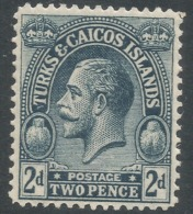 Turks & Caicos Islands. 1922-26 KGV. 2d MH. Mult Script CA W/M SG 166 - Turks And Caicos