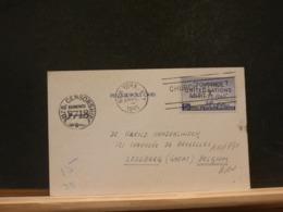 A10/791  CP  USA TO BELG. US CENSOR  1945 - Brieven En Documenten