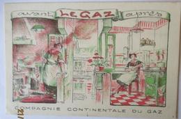 Werbung Reklame Compagnie Continentale Du Gaz (44153) - Werbepostkarten
