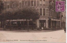 CHALON SUR SAONE  BOULEVARD DE LA REPUBLIQUE  GRAND CAFE DU SPHINX - Chalon Sur Saone