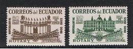 EQUADOR:  1955  ROTARY  P.A. -   S. CPL. 2  VAL. N. -  YV/TELL. 277/78 - Ecuador