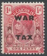 Turks & Caicos Islands. 1918 War Tax. 1d MH. SG 146 - Turks And Caicos