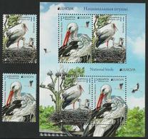 """BIELORRUSIA /BELARÚS /WEISSRUSSLAND - EUROPA 2019 -NATIONAL BIRDS.-""""AVES -BIRDS -VÖGEL-OISEAUX""""- SERIE N + HOJITA BLOQUE - 2019"""